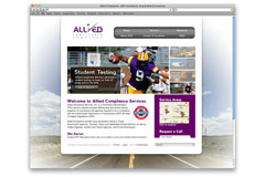 Allied Compliance Website: Art Direction, Graphic Design, Web Development (XHTML/CSS/jQuery)
