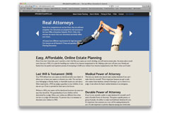 AffordableTexasWills.com: Creative Direction, Art Direction, Graphic Design, Web Development (XHTML/CSS/jQuery), Illustration